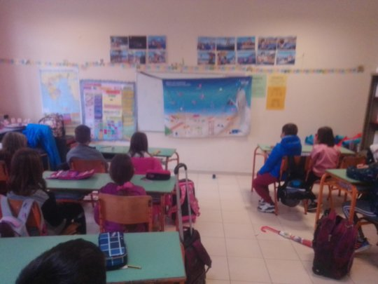Students at school with our educational program