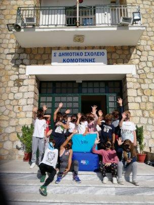 The educational bag ''travels'' across Greece