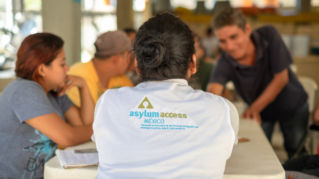 Asylum Access work at a Mexico migrant shelter