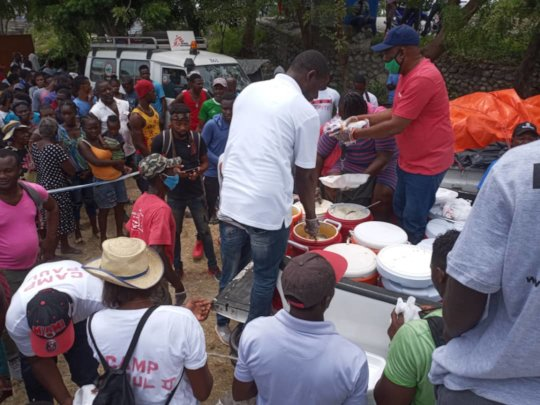 Chili Kabrit w/rice meals for Les Cayes relief
