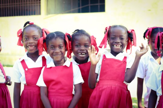 Some of the children from the Jean-Jean school.