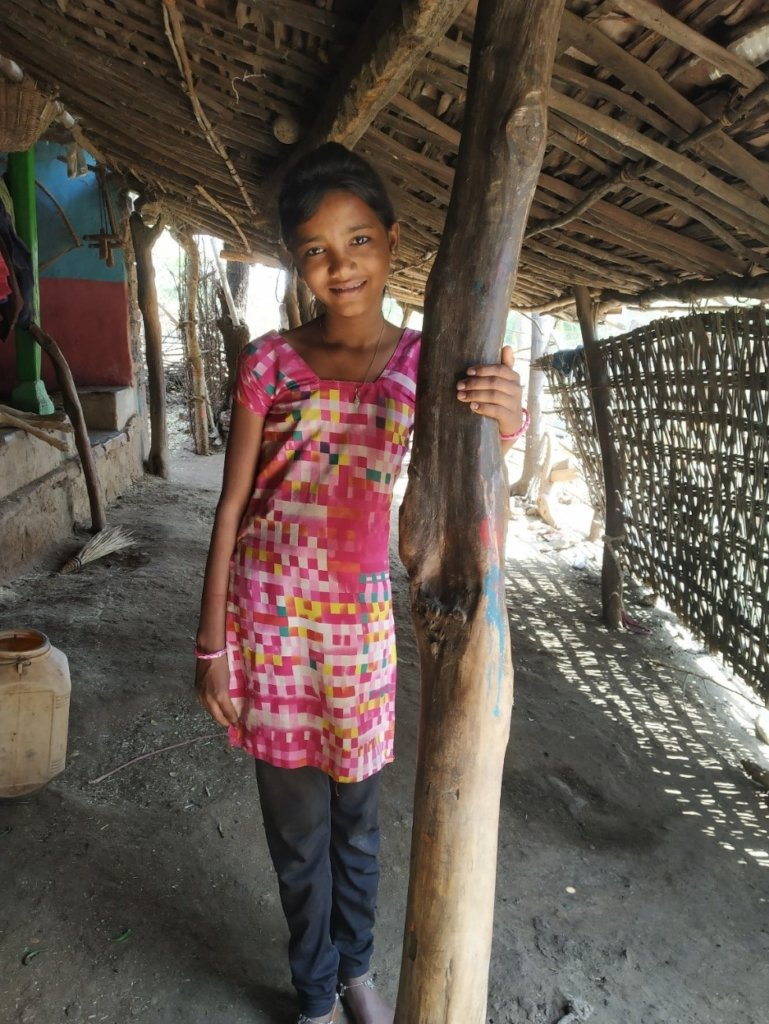 Lali at her home in Alirajpur