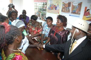 Ugandan President meeting Microfinance partners