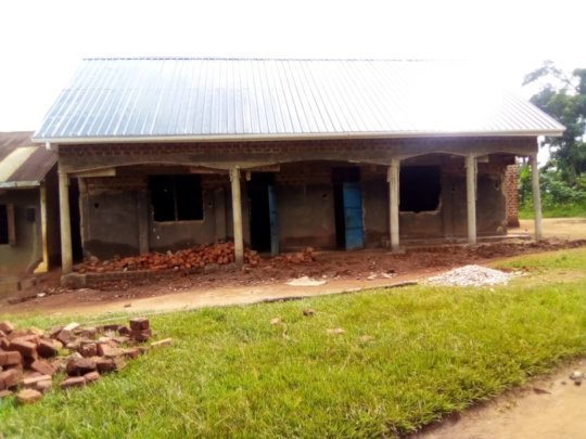 Front view of the classroom Block