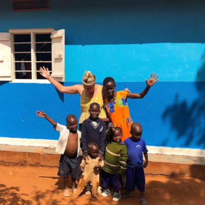 Elise visiting Grace orphanage