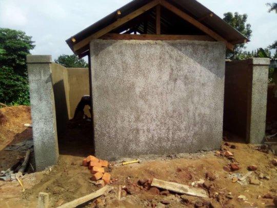 Long Drop Toilet & Washroom