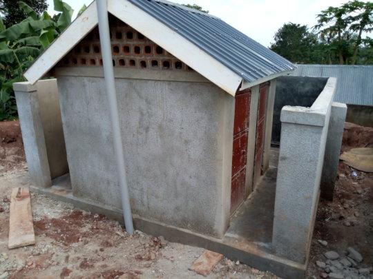 Long drop toilet