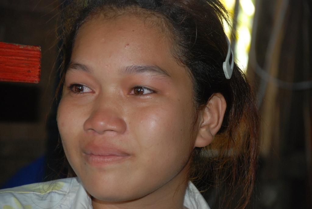 Rina shedding tears of gratitude