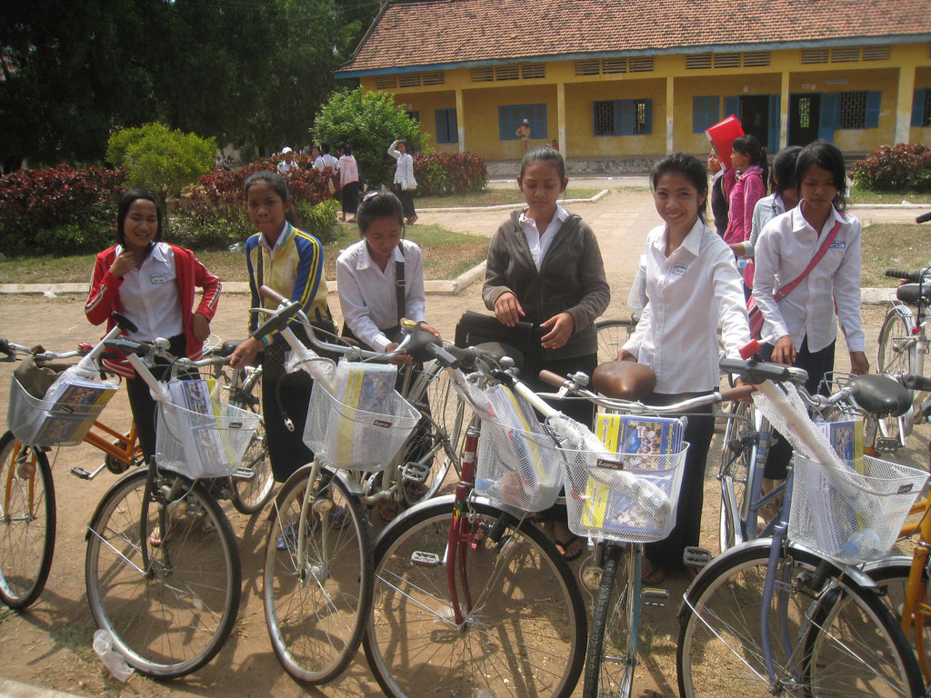 GATE girls at the March 12 bike ceremony