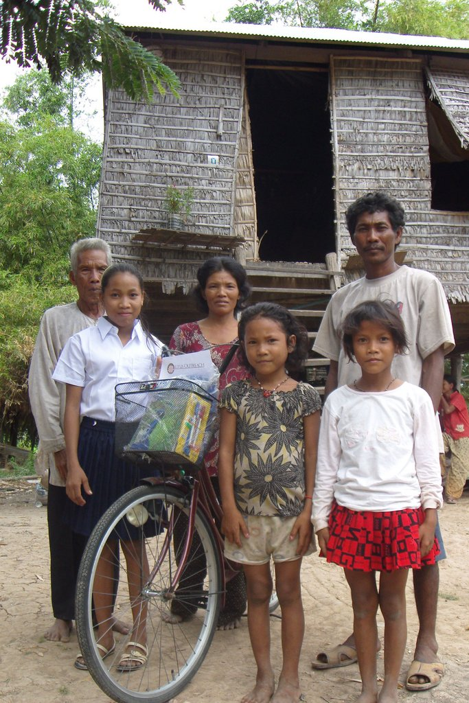 Safe at home, with her family