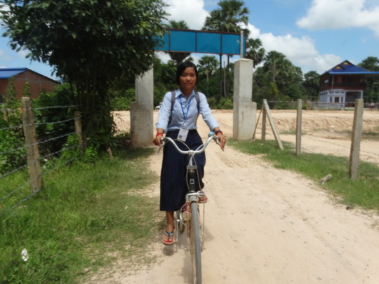 Another photo of Theara and her new bike!