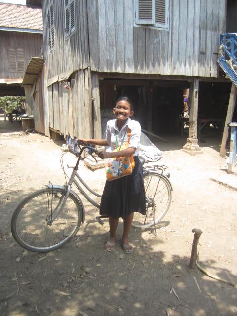 Nita with her new bike