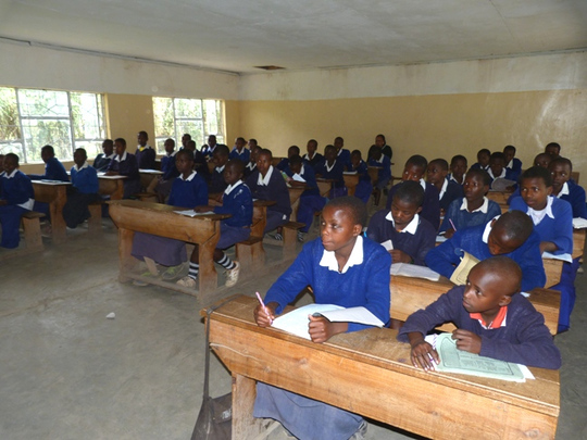 A Class in Progress at Losinoni Primary School