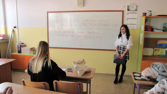 Student about to deliver her Prose in Sofia