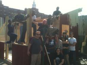 Youth building the Ecoshed at South Street Farm