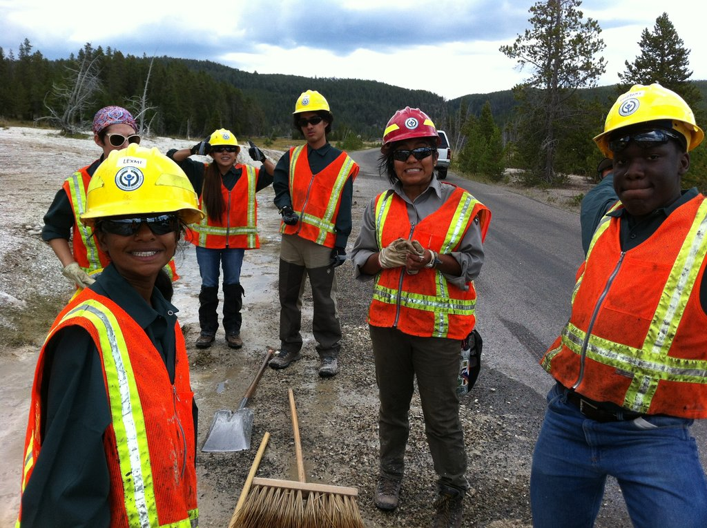 Youth from all Groundwork Trusts at Yellowstone