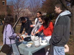 Green Team at Maple Syrup Boil Down !