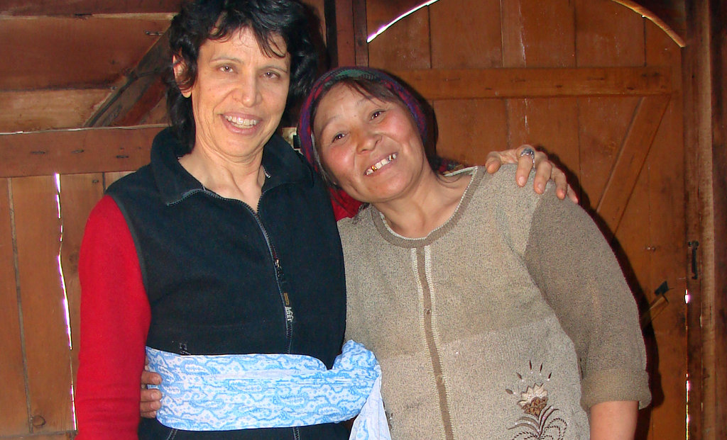 Carol and Marina in a traditional a