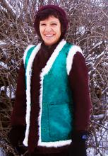 Carol in a Bo'ochi fleece vest