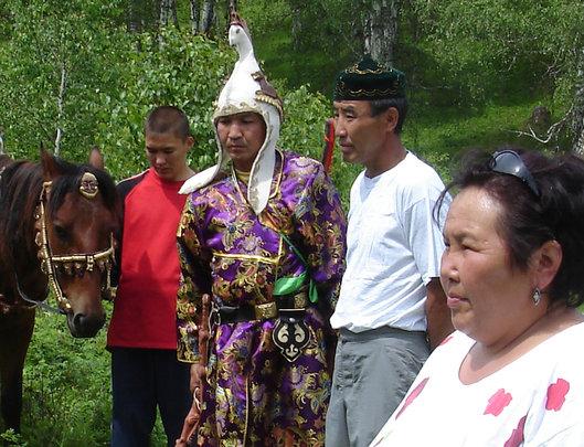 Svetlana doing ceremony on the land