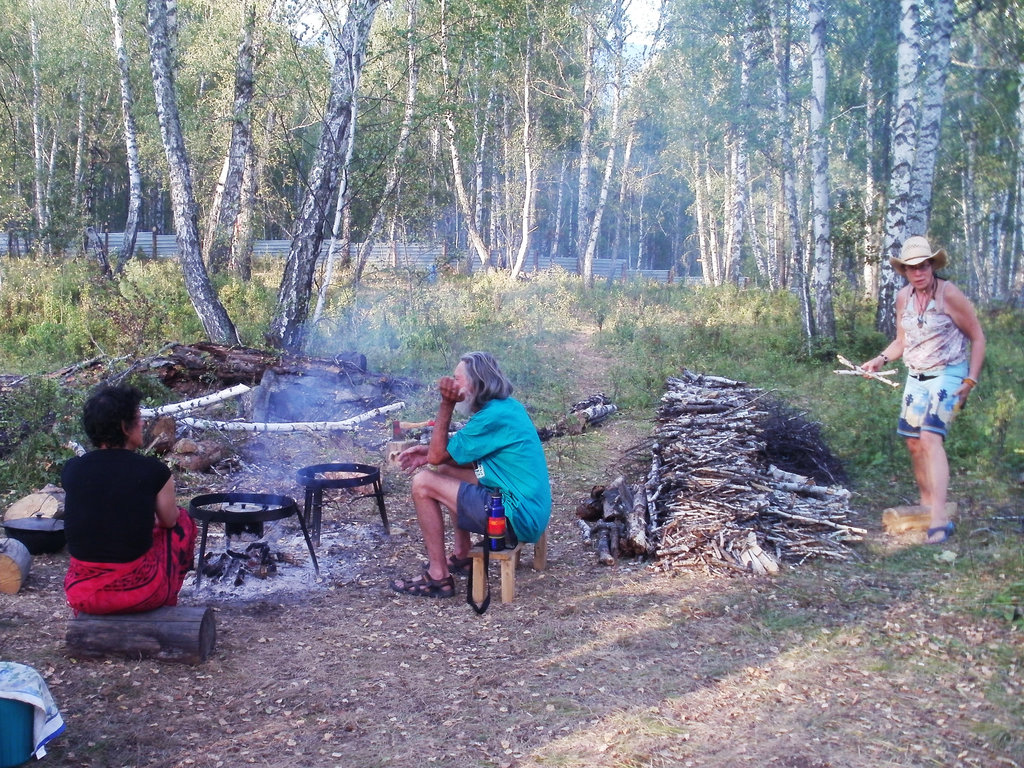 The camp cookfire