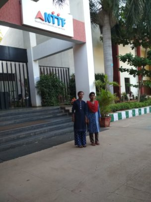 Students outside NTTF Bangalore