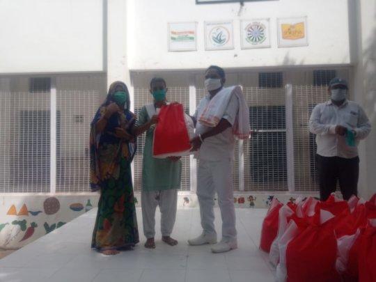 Distributing Grocery Bags