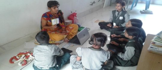 Kalpana - teaching her primary class