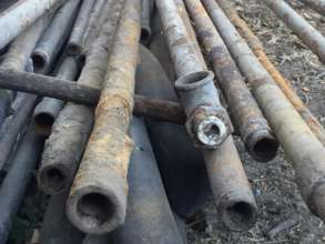 Some of old pipes removed from system