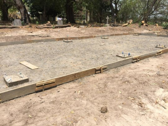 Site ready for pouring slab