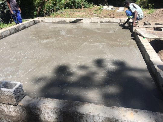 Foundation for shelter for pump and filter system