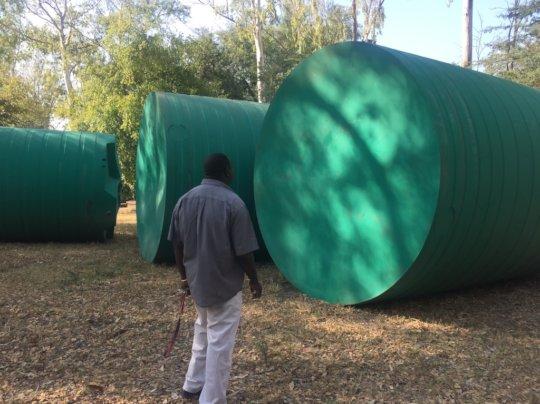 Tanks arrived in Mwandi