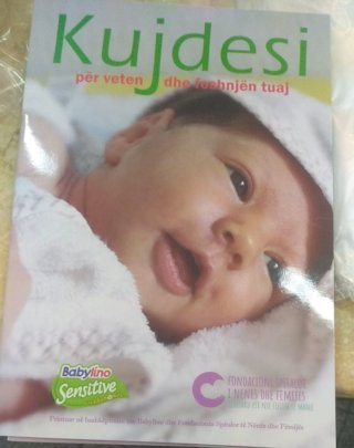 A booklet we will distribute to each mother