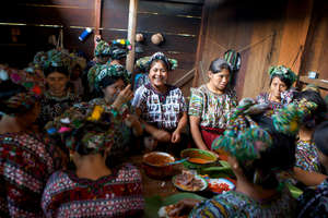 Mayan women in Trapichitos