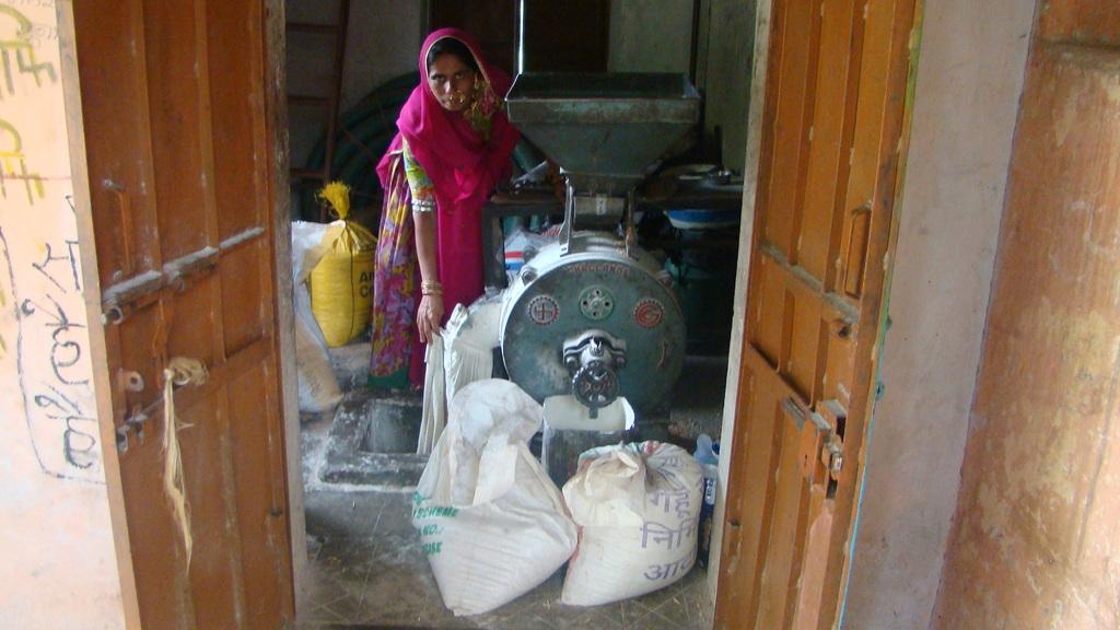 Ratni Bai with her Flour Mill