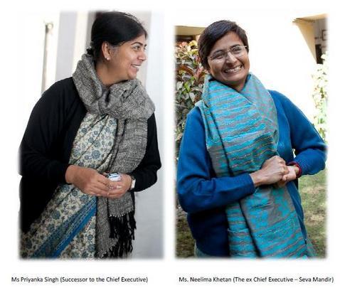 succesor to ex Chief Executive Seva Mandir