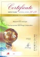 2019 Guatemala National Energy Globe Certificate (PDF)