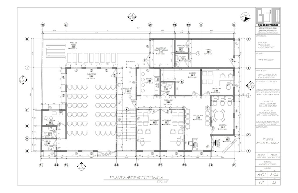 Floor plan for offices and meeting room