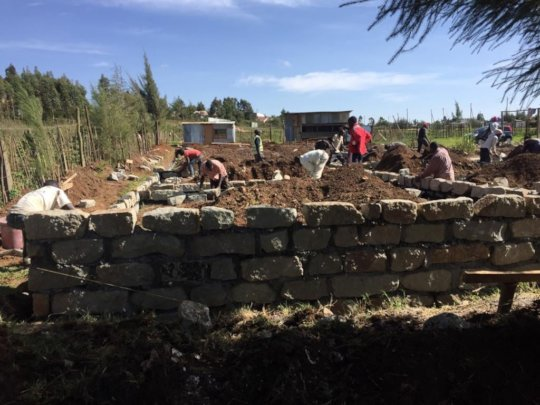workers working on the foundation