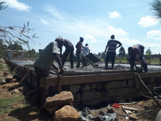 layering the foundation slab