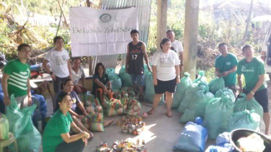 Student volunteers joining the relief operations