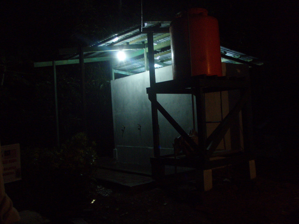 Night lighting for safety at communal latrines