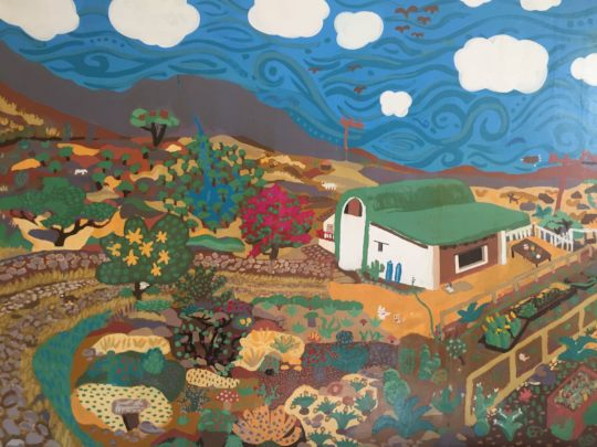 This beautiful mural is the size of a twin bed!