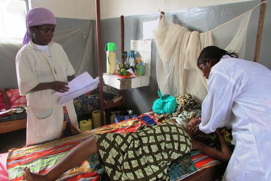 Trained midwives with Blandine