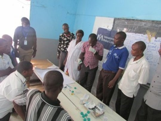 Practical learning at Walikale General Hospital