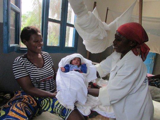 Newborn baby is received at Karete health center