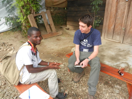 Josh and Chance in Congo, 2012