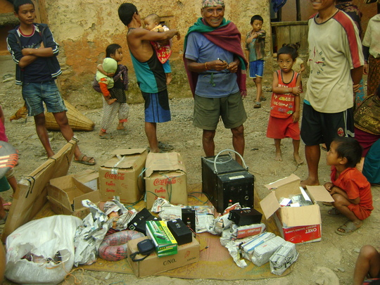 VS team and supplies arrive in Archale village