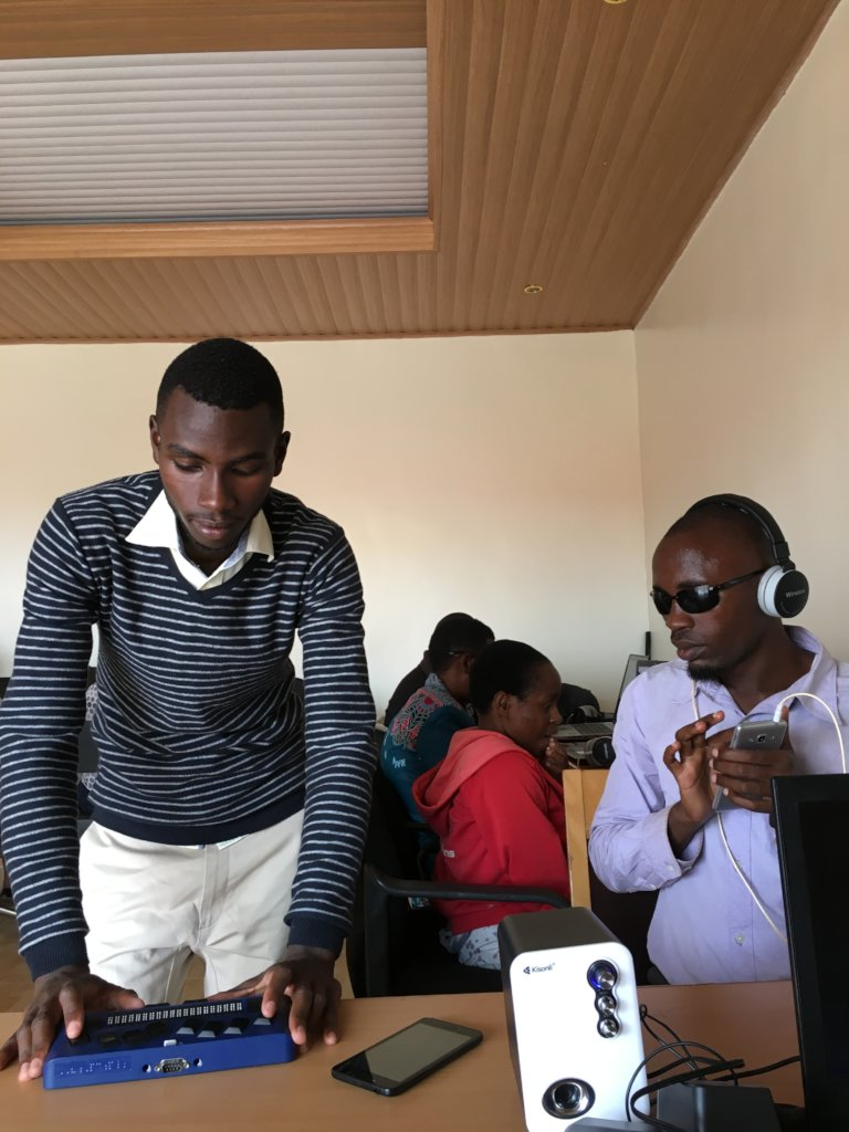 Empower visually impaired for employment in Rwanda