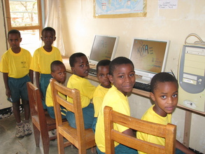 Upendo Students learning how to use computers